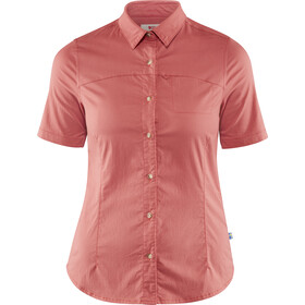 Fjällräven High Coast Stretch Shirt korte mouwen Dames, dahlia